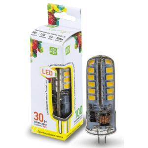ЛАМПА СД LED-JC-STD 5ВТ 12В G4 3000К 450ЛМ ASD