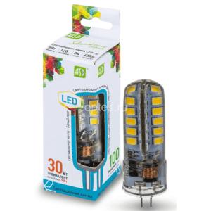 ЛАМПА СД LED-JC-STD 5ВТ 12В G4 4000К 450ЛМ ASD