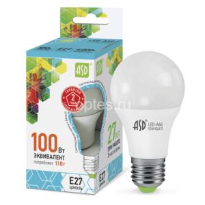 2lampa sd led a60 std 11vt e27 4000k 990lm asd 300x300 - ЛАМПА СД LED-A60-STD 11ВТ Е27 4000К 990ЛМ ASD