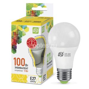3lampa sd led a60 std 11vt e27 3000k 990lm asd 300x300 - ЛАМПА СД LED-A60-STD 11ВТ Е27 3000К 990ЛМ ASD