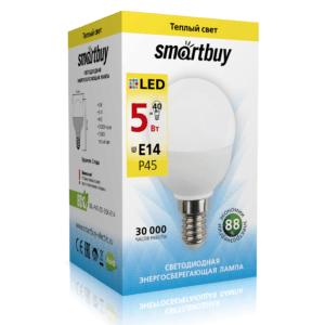 Светодиодная (LED) Лампа Smartbuy-P45-05W/3000/E14