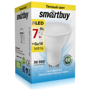 Светодиодная (LED) Лампа Smartbuy-Gu10-07W/3000