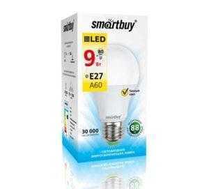 Светодиодная (LED) Лампа Smartbuy-A60-09W/3000/E27
