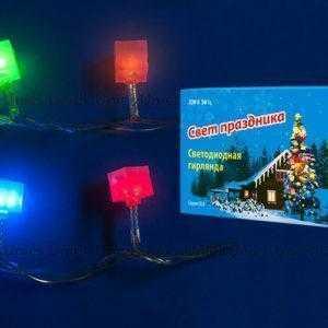 Гирлянда светодиодная с контроллером «Кубики», 50 светодиодов, 7 м, разноцветная ULD-S0700-050/DTA MULTI IP20 CUBES-1