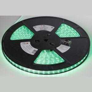 Светодиодная лента зеленая ЭРА 3528-220-60LED-IP67-G- ECO-10M (10/150)