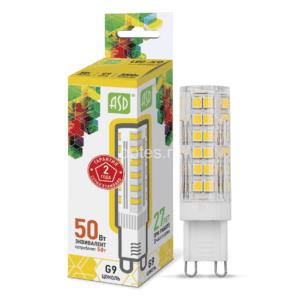 ЛАМПА СД LED-JCD-STD 5ВТ 230В G9 3000К 450ЛМ ASD