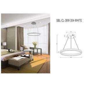 Светодиодная люстра (LED) Smartbuy304-38W/W
