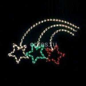 Световая фигура 24V 100 LED красный, 4.8W, 200mA, IP 20, шнур 5м х0,12мм, LT026
