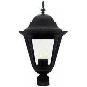 Светильник садово-парковый Feron 4210 столб 100W E27 230V, черный