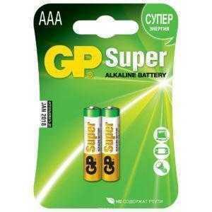 2b 1 300x300 - Алкалиновые батарейки GP Super Alkaline 24А ААA - 2 шт. на блистере