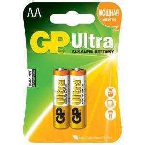 2dd 1 300x300 - Алкалиновые батарейки GP Ultra Alkaline 15А AA - 2 шт. на блистере