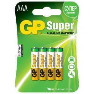 3ss 1 300x300 - Алкалиновые батарейки GP Super Alkaline 24А ААA - 4 шт. на блистере