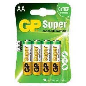 6ss 1 300x300 - Алкалиновые батарейки GP Super Alkaline 15А АA - 4 шт. на блистере
