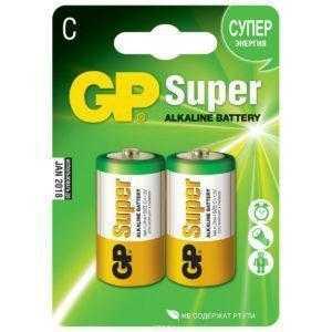 7ss 1 300x300 - Алкалиновые батарейки GP Super Alkaline 14А типоразмера C - 2 шт. на блистере
