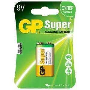 9ss 1 300x300 - Алкалиновая батарейка GP Super Alkaline 9V Крона - 1 шт. на блистере