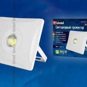 Прожектор светодиодны ULF-F11-50W/DW IP65 180-240В WHITE картон