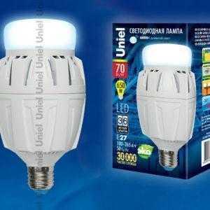 Лампа светодиодная LED-M88-70W/DW/E27/FR ALV01WH картон