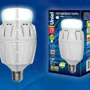 Лампа светодиодная LED-M88-70W/NW/E27/FR ALV01WH картон