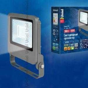 Прожектор светодиодный ULF-F17-30W/DW IP65 195-240В SILVER
