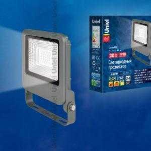 Прожектор светодиодный ULF-F17-20W/NW IP65 195-240В SILVER