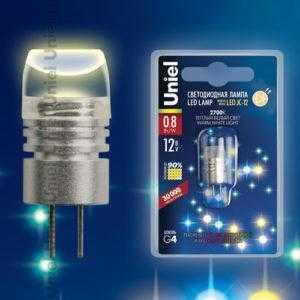 Лампа светодиодная  LED-JC-12/0,8W/WW/G4 35lm