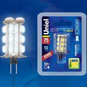 Лампа светодиодная LED-JC-12/0,9W/DW/G4 75lm Corn