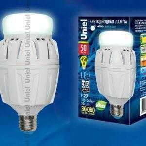 Лампа светодиодная LED-M88-50W/NW/E27/FR ALV01WH картон