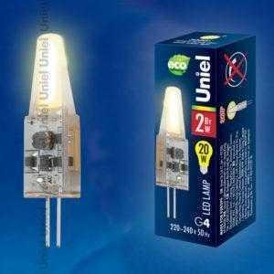 Лампа светодиодная LED-JC-220/2W/WW/G4/CL SIZ05TR