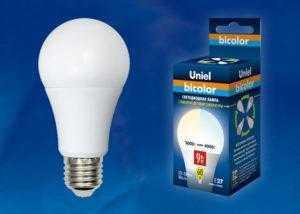 Лампа светодиодная LED-A60-9W/WW+NW/E27/FR PLB01WH картон