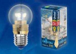 nb7 300x214 - Лампа светодиодная пятилепестковая LED-G45P-5W/WW/E27/CL ALC02GD пластик