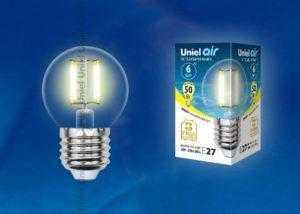 sa12 300x214 - Лампа светодиодная LED-G45-6W/WW/E27/CL GLA01TR картон