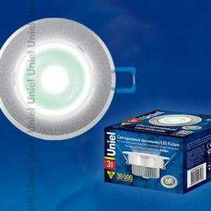 Светильник светодиодный встраиваемый поворотный ULM-R31-3W/NW IP20 Sand Silver картон