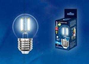 Лампа светодиодная LED-G45-6W/WW/E27/FR PLS02WH картон