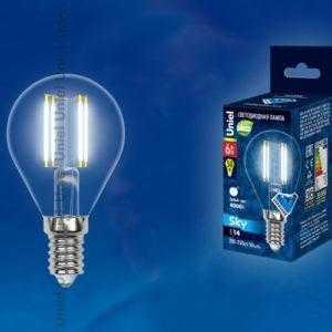 Лампа светодиодная LED-G45-6W/NW/E14/CL PLS02WH картон
