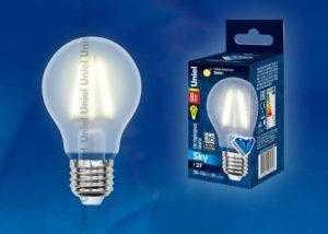 Лампа светодиодная LED-A60-8W/WW/E27/FR PLS02WH картон