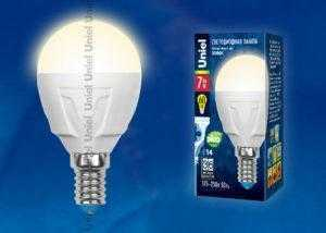 Лампа светодиодная LED-G45-7W/WW/E14/FR PLP01WH картон