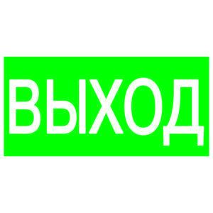 """Знак """"ВЫХОД"""" 200х100мм TDM"""