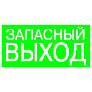 """Знак """"ЗАПАСНЫЙ ВЫХОД"""" 200х100мм TDM"""