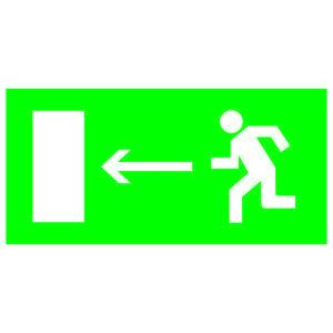 """Знак """"Направление к эвакуационному выходу налево"""" 200х100мм TDM"""