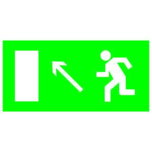 """Знак """"Направление к эвакуационному выходу налево вверх"""" 200х100мм TDM"""
