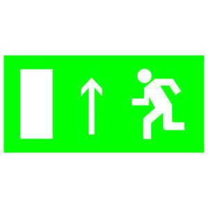 """Знак """"Направление к эвакуационному выходу прямо"""" 200х100мм TDM"""