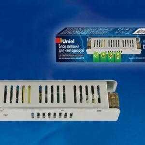 Блок питания, 60Вт. Металлический корпус UET-VAS-060A20 12V IP20