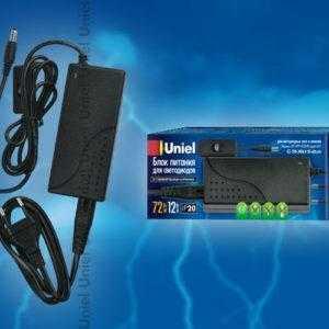 Блок питания для светодиодов с вилкой UET-VPP-072A20 12V IP20