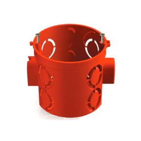 bs1 - Установочная коробка СП D68х62мм, углубленная, саморезы, стыковочные узлы, красная, IP20, TDM