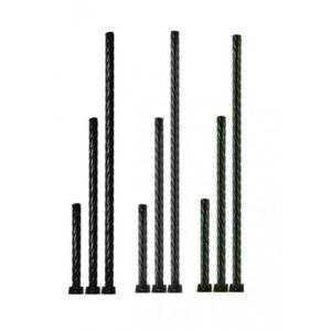 Опора витая металлическая садово-парковая, h=1800 мм, цвет черный, TDM