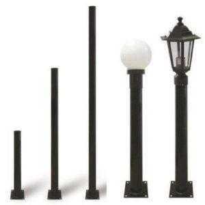 Опора металлическая садово-парковая, h=600 мм, цвет черный, TDM