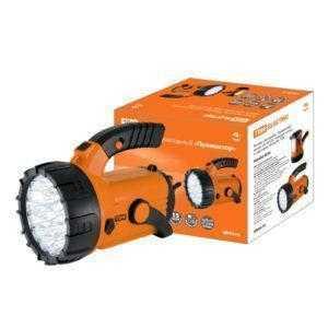 "Фонарь светодиод. ""Прожектор"", аккум. 23+18 LED, поворот. ручка и подставка, 28 лм/Вт, TDM"