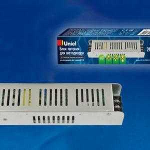 Блок питания, 120Вт. Металлический корпус UET-VAS-120B20 24V IP20