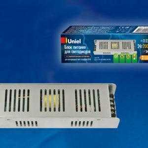 Блок питания,200Вт. Металлический корпус UET-VAS-200B20 24V IP20
