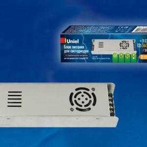 Блок питания, 360Вт. Металлический корпус UET-VAS-360A20 12V IP20